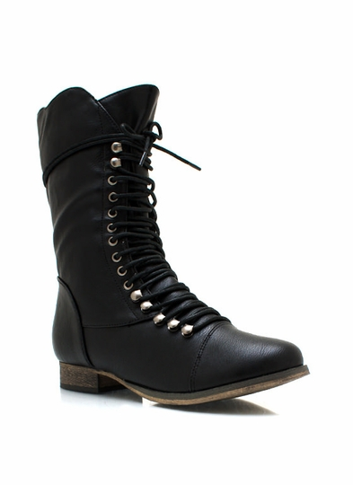 Lace It Up Baby Combat Boots