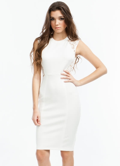 Lace To The Top Bodycon Dress