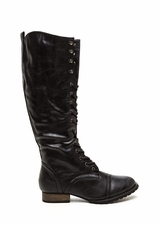 Lace-Up 2 It Faux Leather Boots