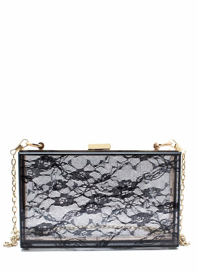 Lace-y Days Lucite Clutch