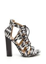 Laced And Infused Chunky Printed Heels