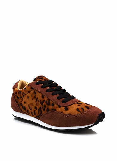 Laced In Leopard Sneakers