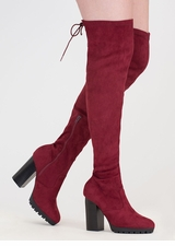 Laced Into Action Over-The-Knee Boots
