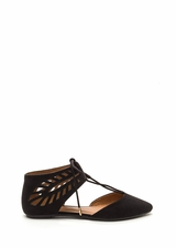 Laced-Up Lover Faux Suede Flats