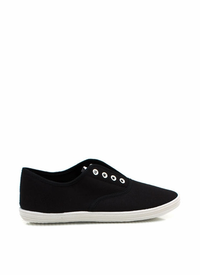 Laceless Canvas Sneakers