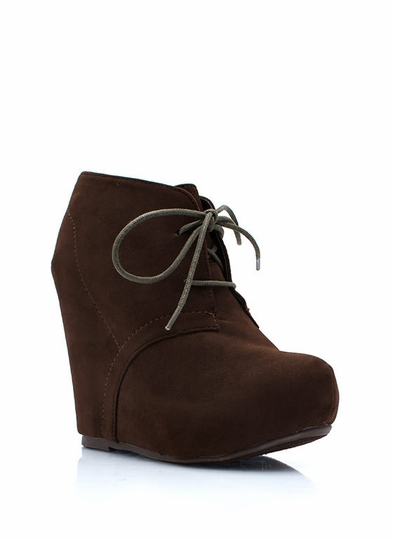 Lacing Up Wedge Booties
