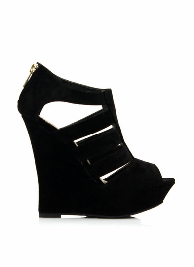 Ladder Strap Platform Wedges