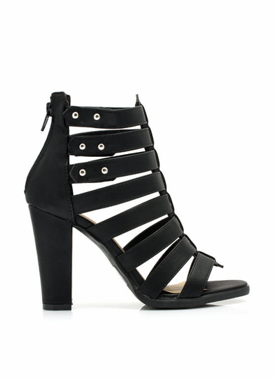 Ladder Up Strappy Heels