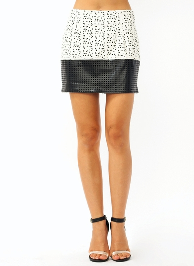 Laser Cut Mini Skirt