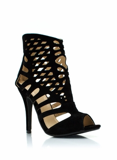 Laser Cut-Out Booties