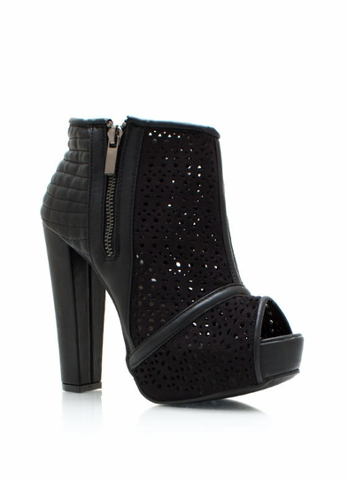 Laser Cut-Out Chunky Booties