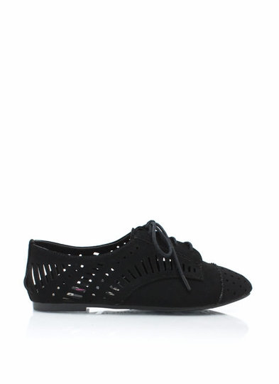 Laser Cut-Out Derby Flats