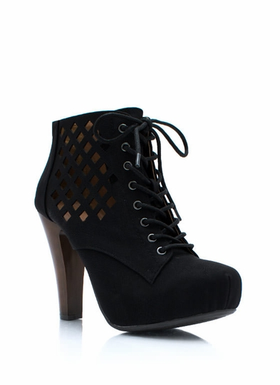 Laser Cut Window Pane Booties