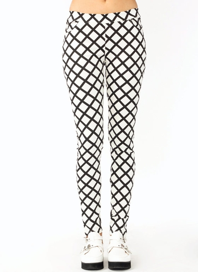 Lattice Printed Leggings