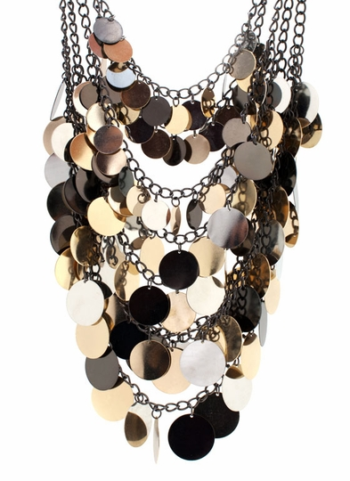 Layered Disc Bib Necklace