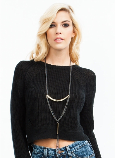 Layered In Tiers Long Necklace
