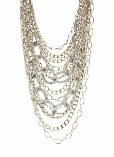 Layered Oversized Chain Necklace Set