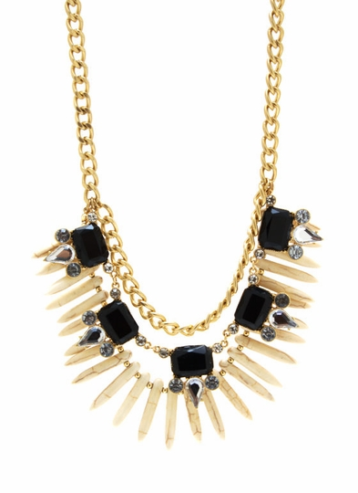Layered Tribal Jewel Necklace