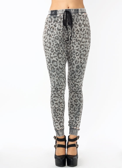 Lazy Kitty Leopard Joggers