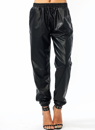 Leather Or Not Track Pants