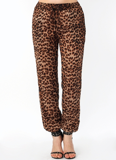 Leopard Lady Drawstring Lounge Pants