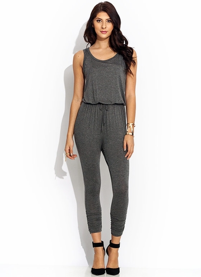 Lets Lounge Ruched Jumpsuit