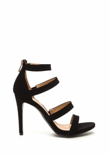 Level Up Faux Nubuck Strappy Heels