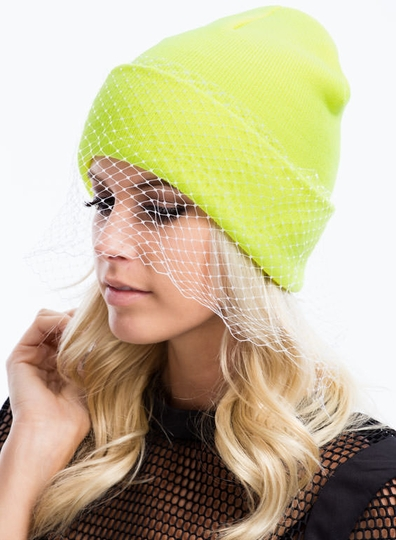 Lift the Veil Knit Beanie
