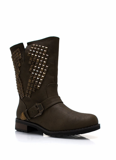 Lightning Strikes Twice Studded Boots