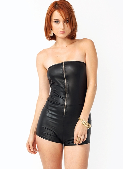 Like A Glove Zipper Romper