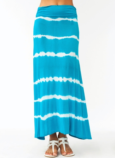 Line Up Tie-Dye Maxi Skirt