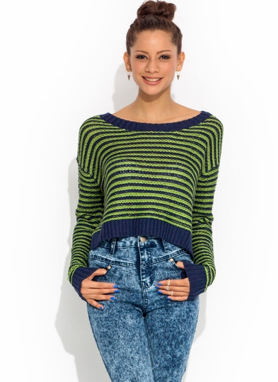 Lined Up Cropped Sweater