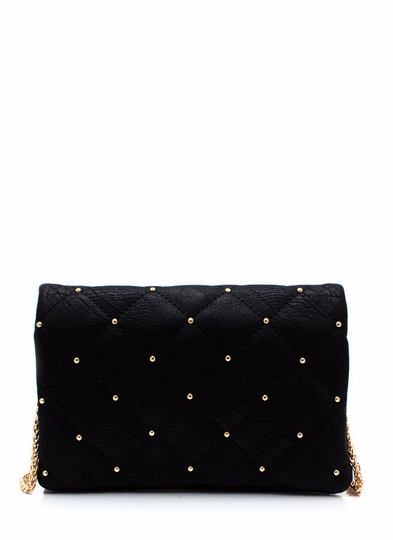 Little Things Studded Quilted Clutch