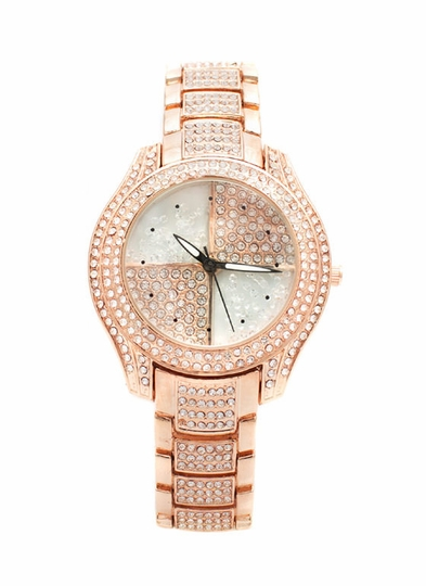 Loaded Bling Embellished Watch