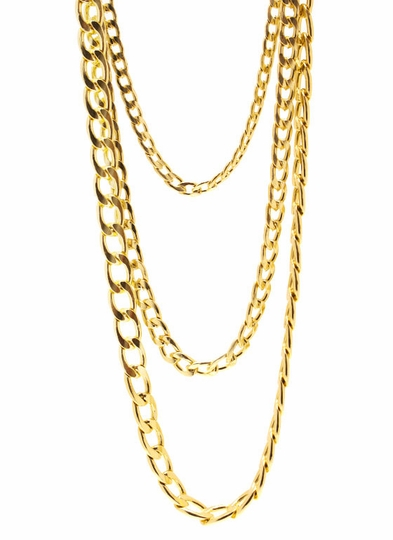 Long Layered Chain Necklace Set
