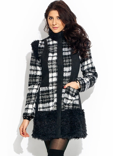 Long Run Faux Fur Trim Jacket