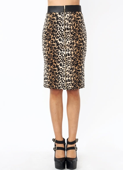 Look Like A Leopard Pencil Skirt