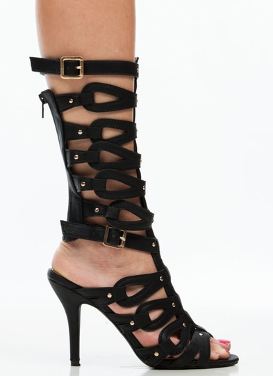 Loop Dreams Studded Gladiator Heels