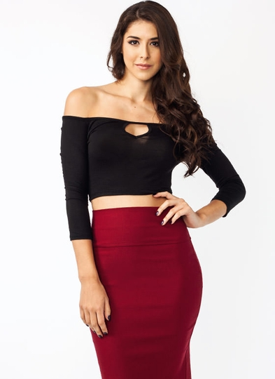 Lost My Keyhole Cropped Top