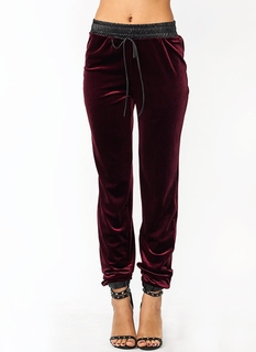 Lounge In Velvet Track Pants