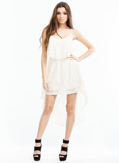 Love Her In Lace High-Low Dress