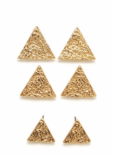 Love Triangle Earring Set