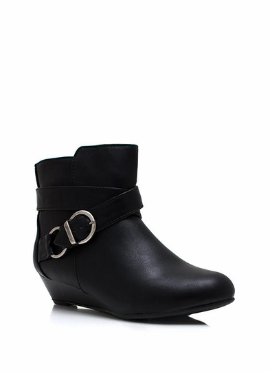 Low Wedge Ankle Boots