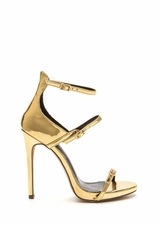Luxurious Touch Strappy Metallic Heels