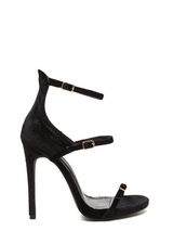 Luxurious Touch Strappy Velvet Heels