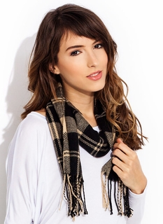 Mad Plaid World Fringe Scarf