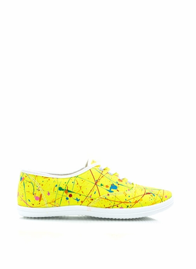 Mad Splatter Canvas Sneakers