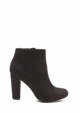Major Muse Chunky Faux Suede Booties