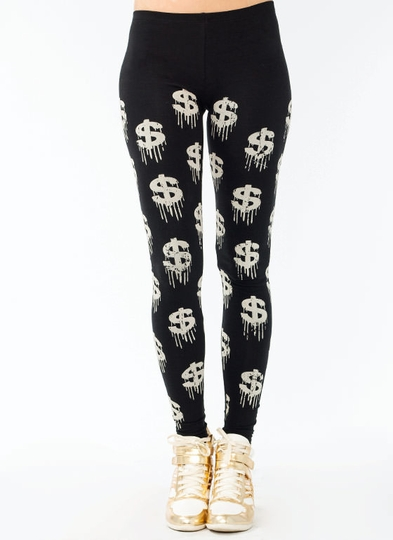 Melting Dollar Sign Leggings