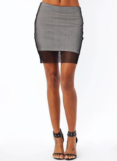 Meshed Up Skirt